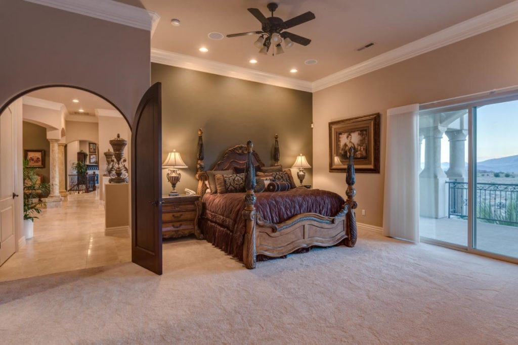 Luxury master suite with views