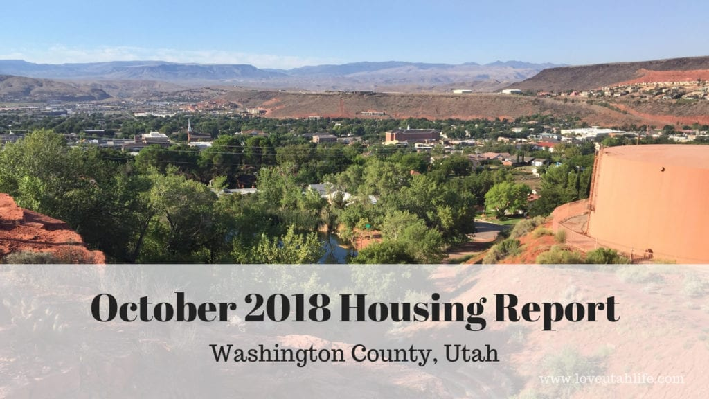 Washington County, Utah October Housing Report
