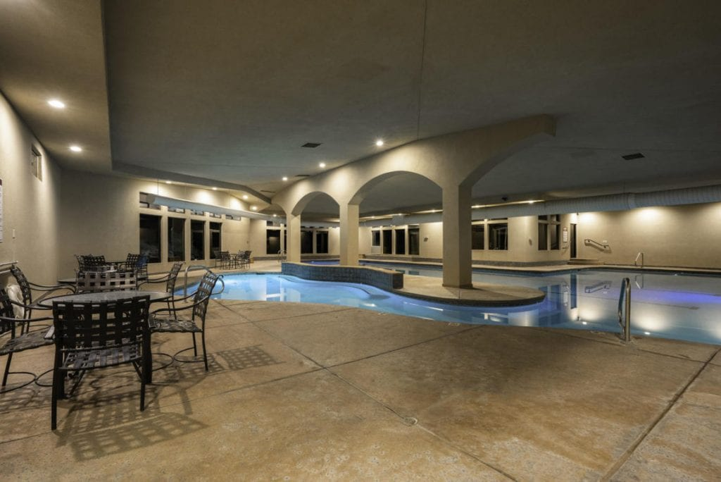 Indoor recreational and lap pools