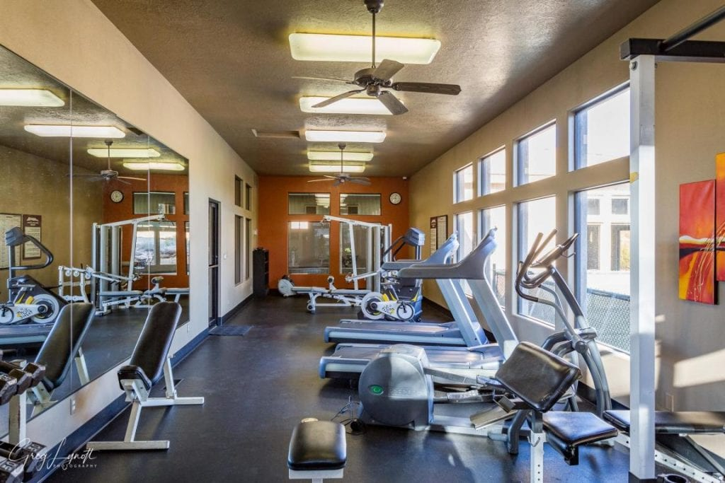 Full use of well equipped fitness center