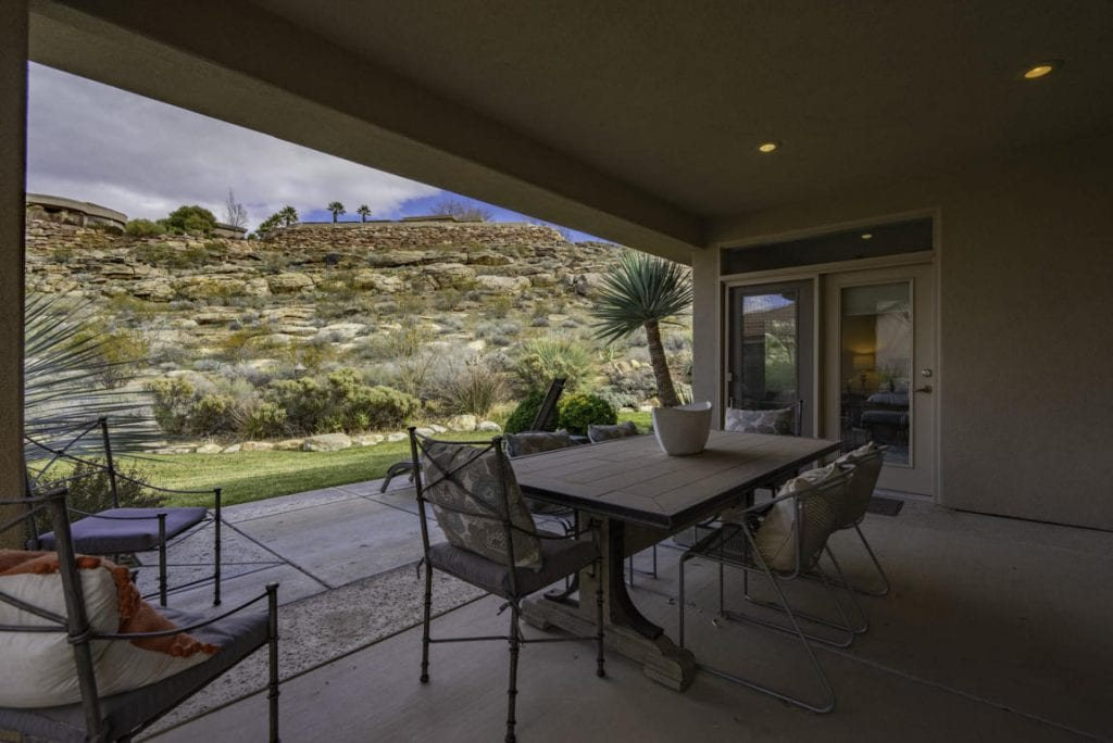 Enjoy the amazing desert sunsets from the oversized back patio