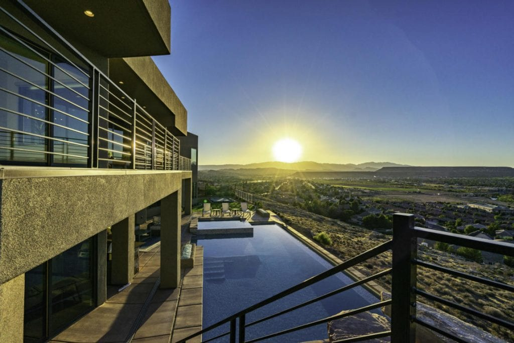 luxury sunset view home
