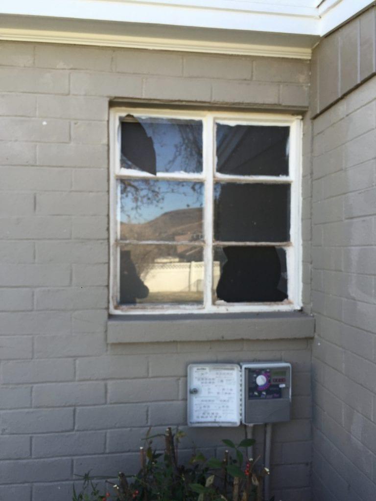 old wood casement window