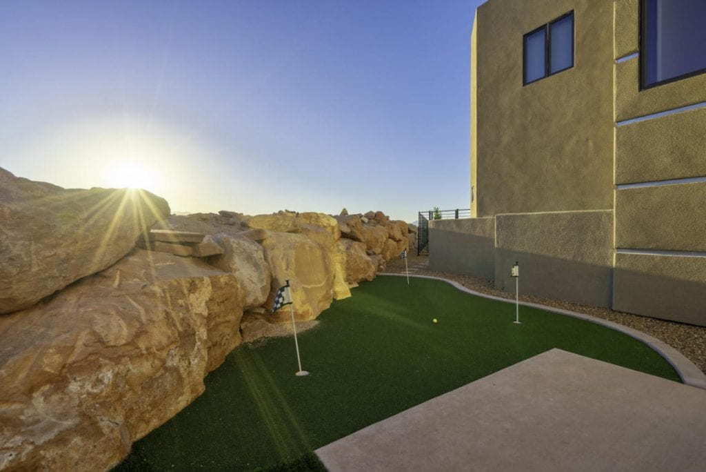 private backyard putting green