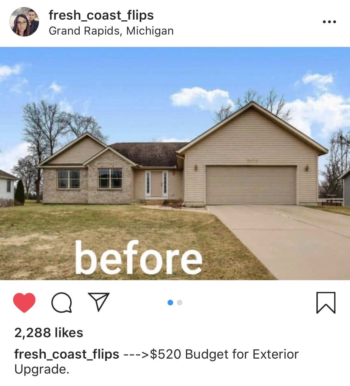 Before and After house makeover