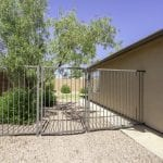 Fully fenced and gated back yard.